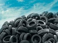 Склад с шинами на переработку