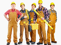 Работники строительной фирмы