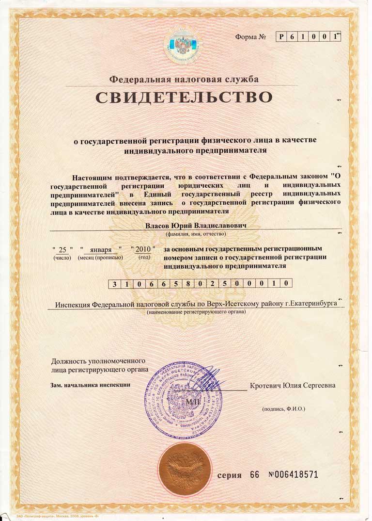 свидетельство о гос регистрации ип аббревиатура